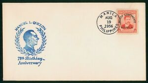Mayfairstamps Philippines 1956 Wcotp Conference Manuel Quezon Cover wwp_65717