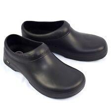 Skechers Work Womens Clara Black Rubber Clogs Slip Resistant Sz 9