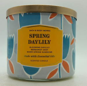 Bath & Body Works Spring DayLily 3-Wick Large BBW Scented Gifts Candles 2020