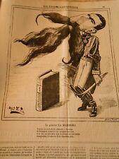 Caricature 1874 - Galerie Charivarique Le Général La Marmora