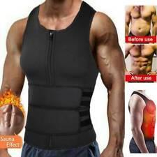 Para hombre traje de Sauna Sudor Chaleco Sin Mangas Camiseta De Neopreno Body Shaper Cintura entrenador