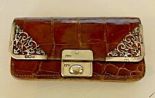 New listing Antique English Alligator Sterling Silver Coin Purse Charles Brown Crocodile