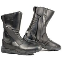 Richa Zenith Leather Waterproof Motorbike Motorcycle Touring Boots - Black
