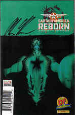 CAPTAIN AMERICA REBORN #1 DF VARIANT SIGNED BY ALEX ROSS W/COA / MARVEL COMICS