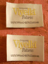 "Designer Labels Lot of 2 NOS Tags ""Original Viyella Fabric 55% Wool 45% Cotton"""