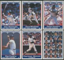 Don Mattingly Deion Sanders Winfield #33 team card 1989 Score Yankees Nat West