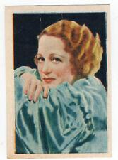 1936 Spanish Nestle Film Star Paper Thin Stamp Sticker #95 Wynne Gibson