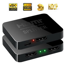 HDMI 1 in 2 out 1080p 4K 1x2 HDCP Stripper 3D Splitter Power Signal Amplifier