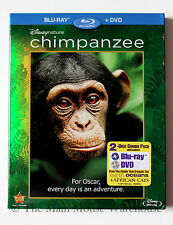 Disney Nature Chimpanzee Documentary Blu-ray & DVD w/ Green Reflective Slipcover