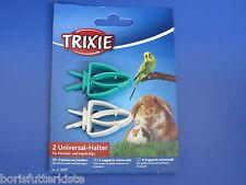 Universal - Halter 2 Stk. verschiedene Farben, Kleintier  Sepiaschalenhalter