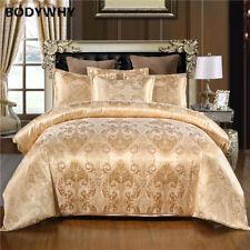 Jacquard Bedding Set Duvet Cover Silk Bed Linens Quilt High Quality 2/3pcs