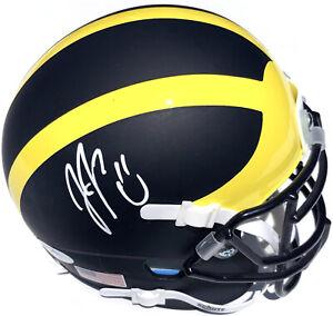 JJ MCCARTHY #9 SIGNED MICHIGAN WOLVERINES MINI FOOTBALL HELMET PSA/DNA