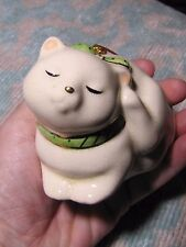 Sweet Vintage Hanging Potpourri Cat Christmas Ornament (Made in Japan)
