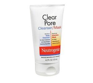 Neutrogena Clear Pore Cleanser/Mask Acne Spot Treatment 4.2 oz
