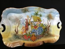 Platter/Tray Ceramic Valencia, Spain Hand Painted Pictorial Of Culture/History