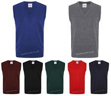 Kids Boys School UNIFORM V Neck Tank Top ~ Knitted Sleeveless Schoolwear JUMPER