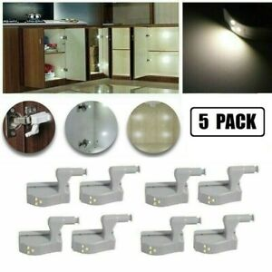 Cabinet Hinge LED Sensor Light For Wardrobe Cupboard Door Kitchen Closet 1PC/5PC