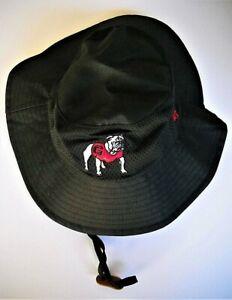 GEORGIA UGA BULLDOGS UNISEX ADULT FLOPPY FISHERMAN BUCKET HAT CAP W/ LOGO, STRAP