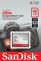 SanDisk® Ultra 16GB CompactFlash® Card Speed up to 50MB/s CF Genuine