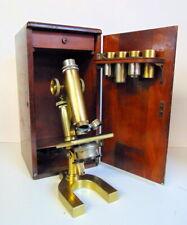 Antique Bausch & Lomb Optical Co Brass Microscrope. #29752 1899