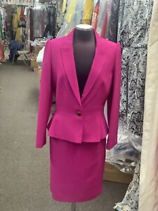 """JOHN MEYER SKIRT SUIT /RETAIL$240/SIZE 14/NEW WITH TAG/LINED/MAGENTA/SKIRT 25""""/"""