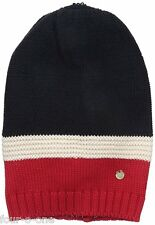 Armani Jeans Women's Color Block Beanie Dark Navy Small