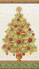Winter's Grandeur 5 Tree Panel-Evening-Kaufman-Blue B/G-Silver Tree w/Ornaments