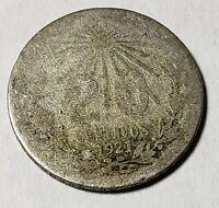 1921 Mexico 20 Centavos Silver