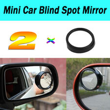 2 Pcs Black Adjustable Wide Angle Convex Car Blind Spot Rearview Mirror 36mm Dia
