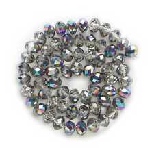50pcs Plating Faceted Cut Crystal Glass loose spacer Beads Jewelry Making 4-8mm