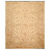8'6'' x 10'4'' Hand Knotted Wool Peshawar Traditional Oriental Area Rug Gold
