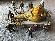 1983 Vintage Star Wars Kenner Jabba Playset HK COO & Skiff Guards Complete VGC