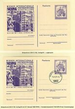 Austria AY39 WIPA 1981 2 Postal Stationery cards mint/SC