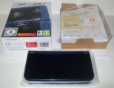 "Nintendo ""New"" 3DS XL Metallic Blue - Console/System - Boxed (New - unused)."