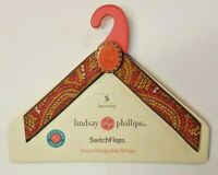 Lindsay Phillips Beverly Switch Flops Interchangeable Straps Size S 5/6