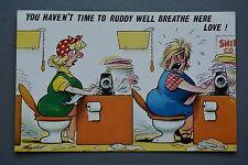 R&L Postcard: Comic, Bamforth 754, Busy Sewing Machine Operators Toilets