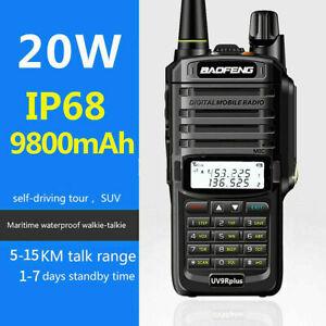 Baofeng 20W UV-9R Plus VHF UHF Walkie Talkie Dual Band Two Way Radio IP68