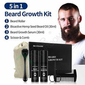 30ML Beard Growth Kit Facial Styling Activator Serum & Hemp Seed Oil Father Gift