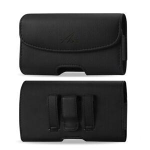 AGOZ Horizontal Leather Belt Clip Case Holster Pouch For Zebra Barcode Scanner