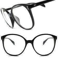 Classic Vintage Retro Large Oversized Nerd Geeky Sexy Clear Lens Eye Glasses B79