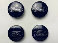 SET of 4 Ford 54mm Alloy Wheel Centre Caps Focus Mondeo Fiesta Galaxy