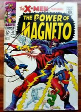 Uncanny X-Men #43 Magneto Silver Age Cover Buscema Art (1968 Marvel Comics)