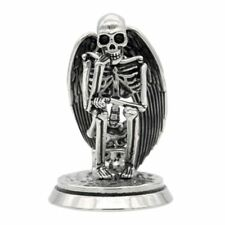 The Undead Thinker Angel Wing Skeleton Statue 316L Stainless Steel By Controse