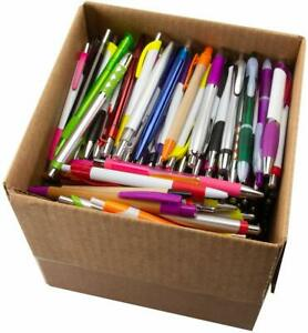 Bulk Lot - 5 LBS. Plastic Retractable Pens - (Approx. 200-250 Pens) - Black Ink