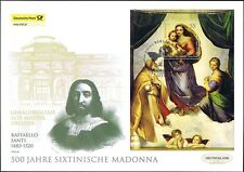 Germany 2012: Sistine Madonna! POST-LARGE-FDC with the Block No. 79! 1a! 1809