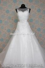 1384 White Ivory Wedding Dresses dress tulle gown princess size 8 10 12 14 16 18