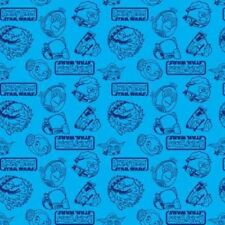 Camelot Cottons Angry Birds Star Wars 73300108 1 Blue Outlines  Cotton Fabric