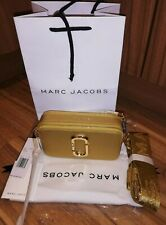 BNWT Marc Jacobs DTM Metallic Gold Snapshot Small Camera Crossbody Bag