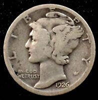 1926-S San Francisco Mint Silver Mercury Dime