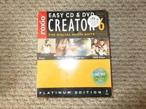 Roxio Easy CD & DVD Creator 6 Platinum Edition - PC DVD-ROM sealed unused